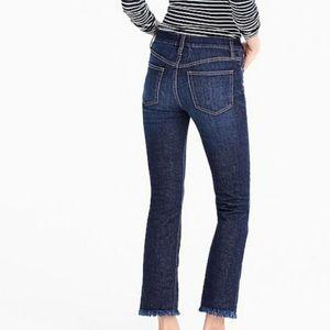 JCREW Billie Demi boot crow raw/fray hem jeans